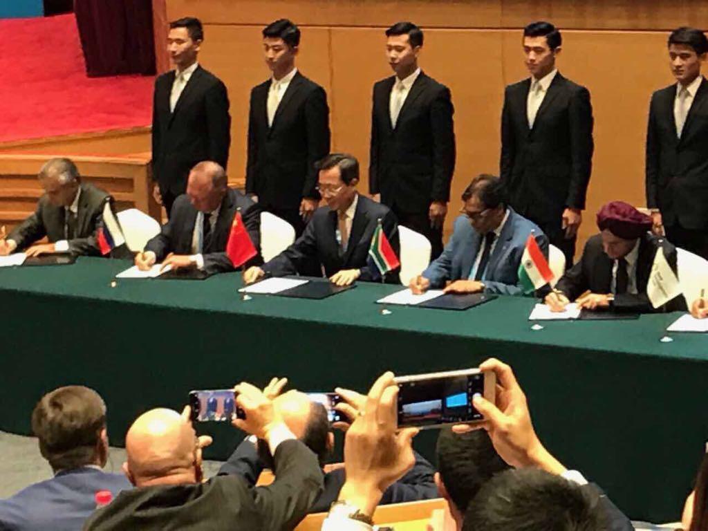 Подписан меморандум о взаимопонимании между Деловым советом БРИКС и новым Банком развития БРИКС