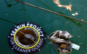 Плавающая урна для очистки океана собирает полтонны отходов в год