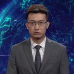 Робот-диктор читает новости на китайском ТВ