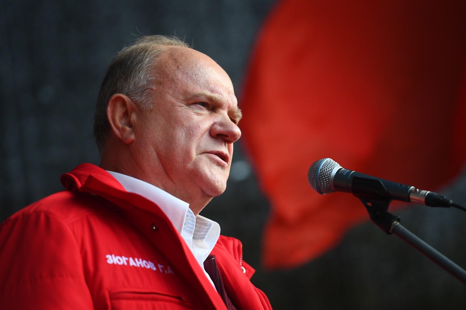 Лидер партии КПРФ Геннадий Зюганов. Рамиль Ситдиков / РИА Новости