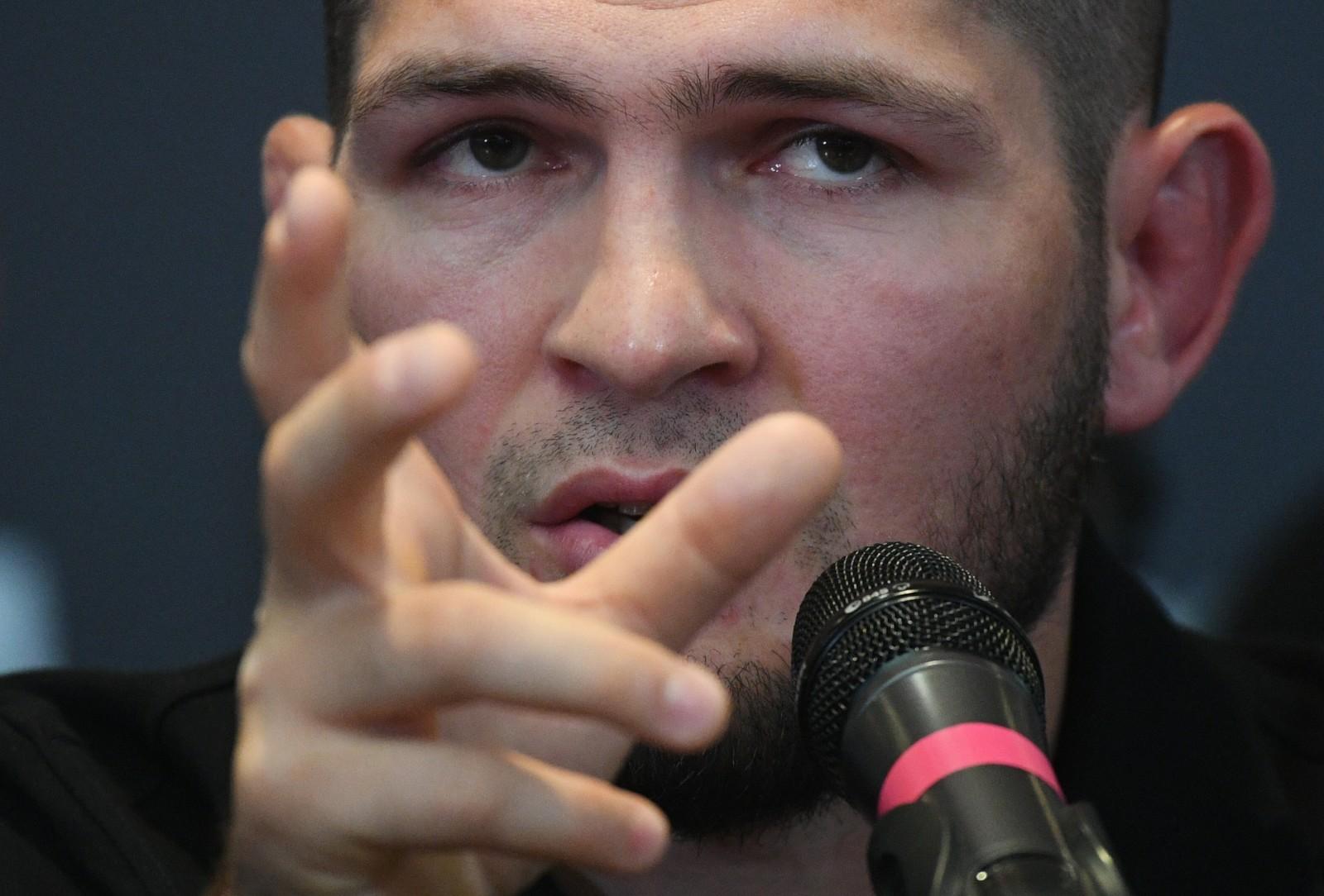 Бывший чемпион UFC в легком весе Хабиб Нурмагомедов. Рамиль Ситдиков / РИА Новости
